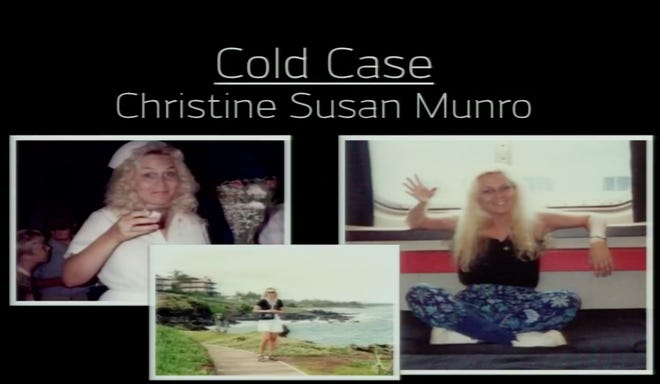 Police provided these photos of Christine Susan Munro during a news conference in which they announced a break in her cold case on Friday, Nov. 13, 2020.