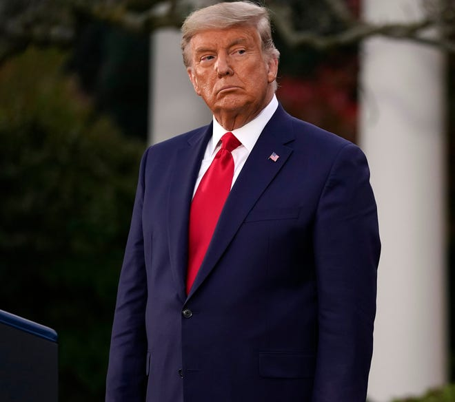 President Donald Trump is pictured during an event on Operation Warp Speed at the White House.