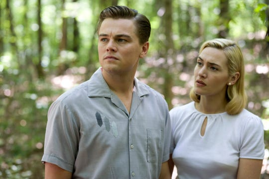"""Kate Winslet, right, reunited with """"Titanic"""" co-star Leonardo DiCaprio in 2008's """"Revolutionary Road."""""""