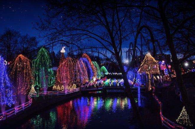 Akan ada banyak kelap-kelip lampu di Hersheypark's Christmas Candylane.