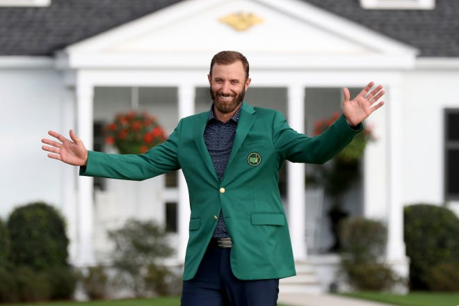 Dustin Johnson closed with a 4-under 68 and finished at 20-under 268, breaking by two shots the record set by Tiger Woods in 1997 and matched by Jordan Spieth in 2015.