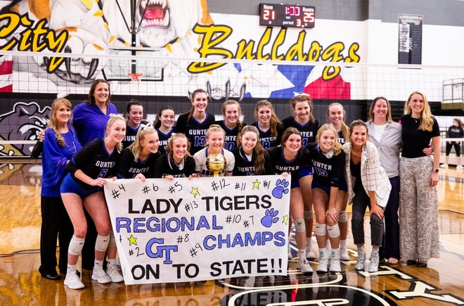 The Gunter Lady Tigers are headed to the state semifinals for the first time in program history after their 3-0 victory over Harmony in the 3A Region II final at Royse City.