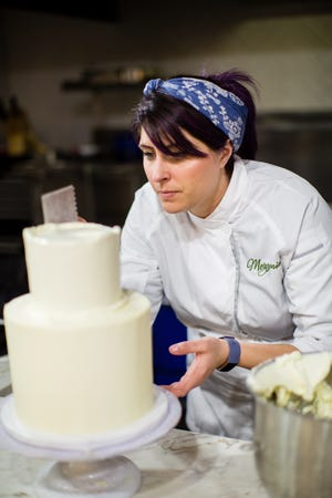 """Courtney Couture, the pastry chef for Dover's Mezzanine Catering, is in the running to become """"The Greatest Baker."""""""
