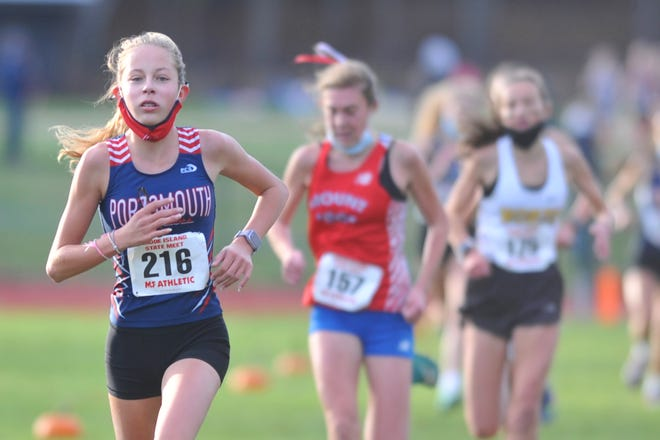 Freshman Katie Yalanis was the top finisher for Portsmouth at the state championship meet Saturday at Ponaganset High School.