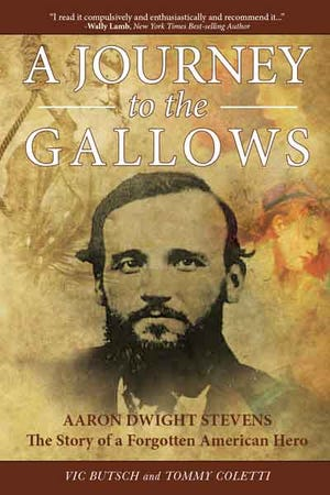 """The cover of """"A Journey to the Gallows,"""" which tells the story of Aaron Dwight Stevens, a Lisbon-born abolitionist who joined in John Brown's 1859 Harpers Ferry raid."""