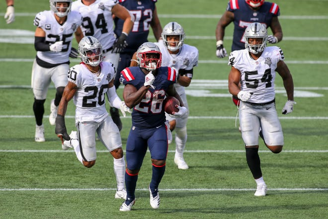 New England running back Sony Michel has missed a big chunk of the season while dealing with a quad injury and a COVID-19 diagnosis.