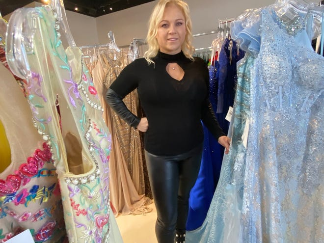 Kylee Miller, owner of [Be] Social Dress Boutique, 121 Mill St. in Gahanna, is one of 64 approved commercial recipients through the city of Gahanna's CARES Act assistance program. She said she lost 90% of her business this year because of event cancellations.