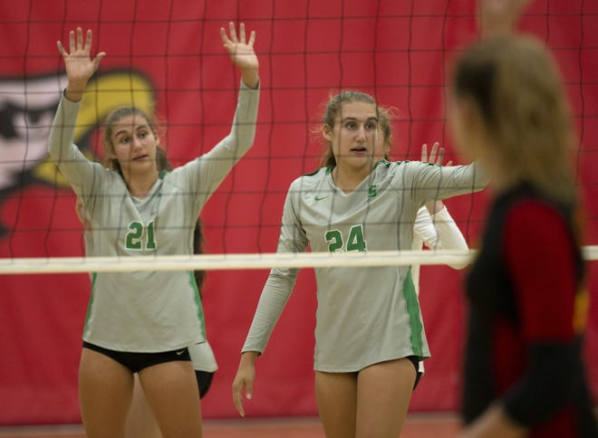 Ashleigh Rothe, left, and sister Karleigh Rothe were among the four seniors for Scioto, which finished 23-2 overall and 14-0 in the OCC-Capital. Karleigh, an outside hitter, was Player of the Year in the district and league and second-team all-state. Ashleigh, an opposite-side hitter, was first-team all-district and all-league. Their sister, freshman middle blocker Alec Rothe, is expected to be one of the team's top returnees.