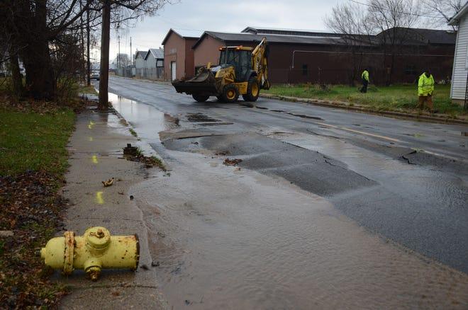 A hit and run driver hit a power pole and hydrant on Hamblin Avenue Sunday.