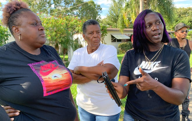 Left to right is Quasheda Pierce, mother of Sincere Pierce, Cynthia Byrd-Green, Sincere's aunt, and Tasha Strachan, mother of A.J. Crooms.