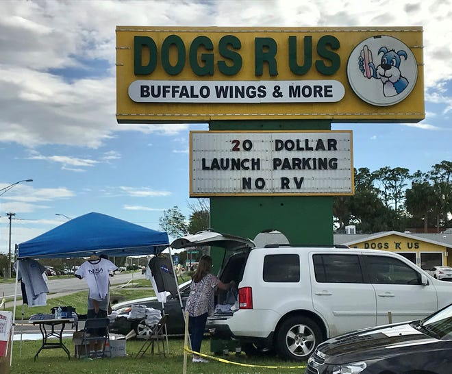 Dogs R Us offered $20 launch parking Sunday in Titusville.