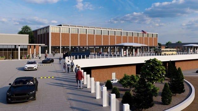 Rendering pembangunan kembali Northland Mall