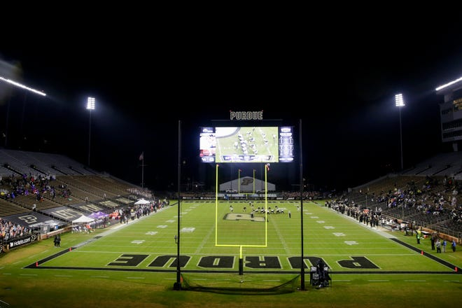 Inside Ross-Ade Stadium during an NCAA football game between the Purdue Boilermakers and Northwestern Wildcats, Saturday, Nov. 14, 2020, in West Lafayette.