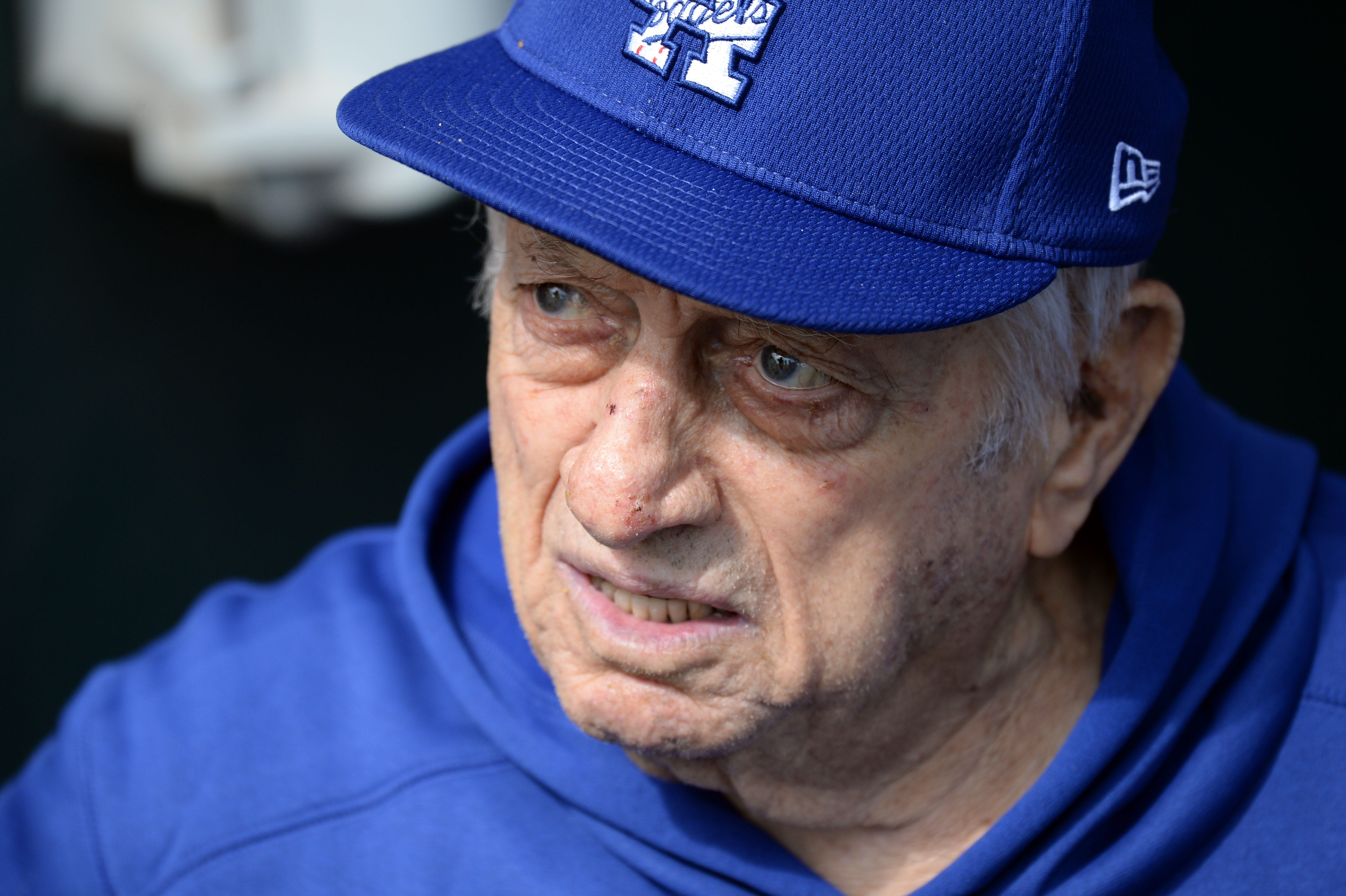 Hall of Fame manager Tommy Lasorda in intensive care