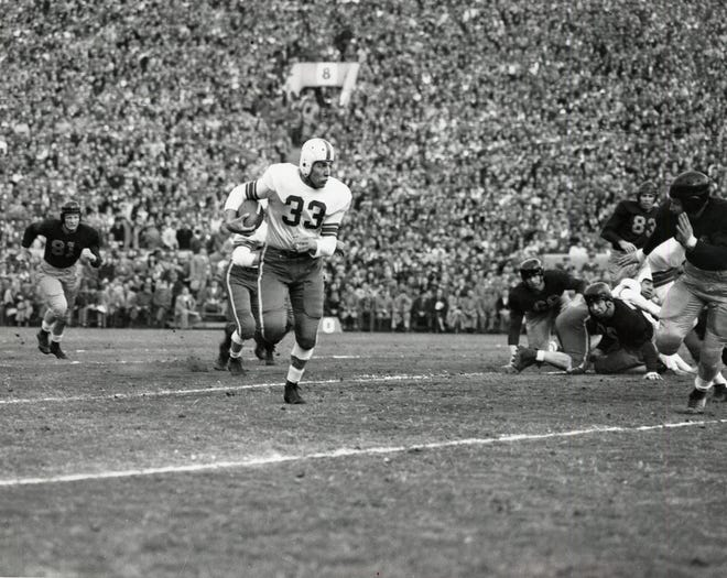 "Ohio State's Fred ""Curly"" Morrison was named to the Rose Bowl Hall of Fame for his performance in the 1950 game against California, a game the Buckeyes won 17-14."