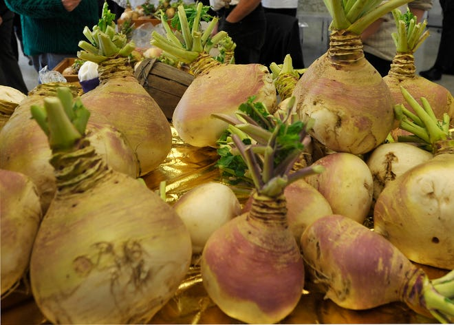 Turnips from a past Eastham Turnip Festival.