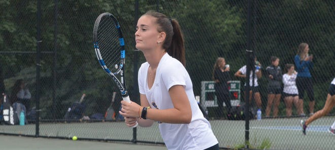 Goldey-Beacom College women's tennis senior Anna Hortelano Pey, of Castelldefels, Spain, was picked the Central Atlantic Collegiate Conference Student-Athlete of the Month.