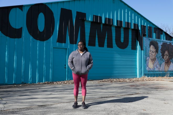 """Karriejoi Coit, executive director of Second Ward Community Initiative, calls the center's food distribution the """"only food delivery system for those 8 weeks old to death."""""""