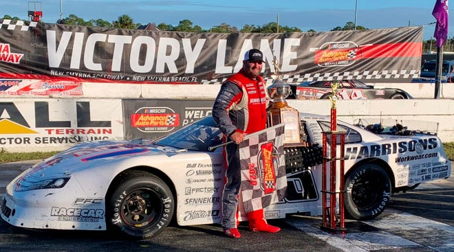 Bubba Pollard in Victory Lane after Governor's Cup victory.