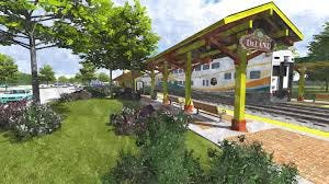 This rendering of a future DeLand SunRail station has been on the books for years. Based on a recent vote of the Central Florida Commuter Rail Commission, it could become reality.