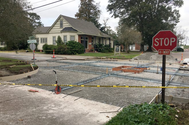 Road improvement projects are ongoing throughout the City of Donaldsonville, including this one at the intersection of Iberville and Chetimatches.