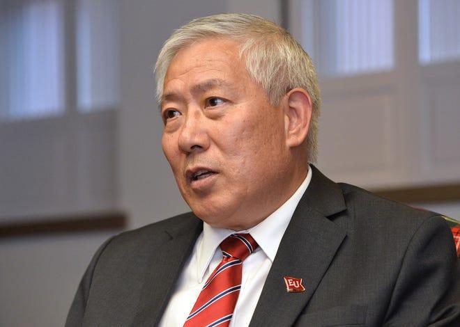 Edinboro University President Guiyou Huang on Monday was named as the new president of Western Illinois University.
