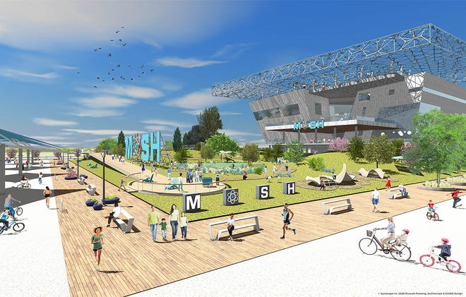 This is a rendering of the Museum of Science and History's planned new facility on Jacksonville's Northbank.