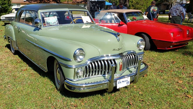 Marlin Crider's 1950 DeSoto Sporstman coupe, one of four DeSotos he owns, at the Cecil Pines car show.