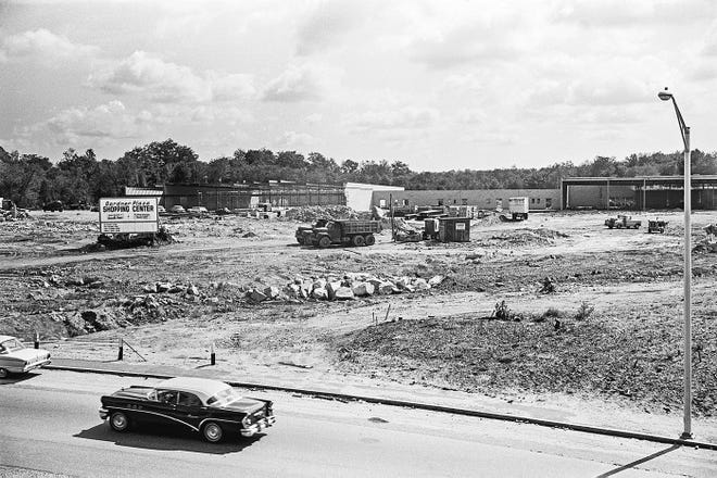 The Gardner Plaza being built on Pearson Boulevard in late 1963.