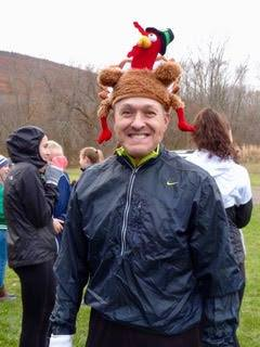 Nathan Sirvent, who started the Naples Turkey Trot in 2009, is seen at one of the early Turkey Trot events in his signature headdress.