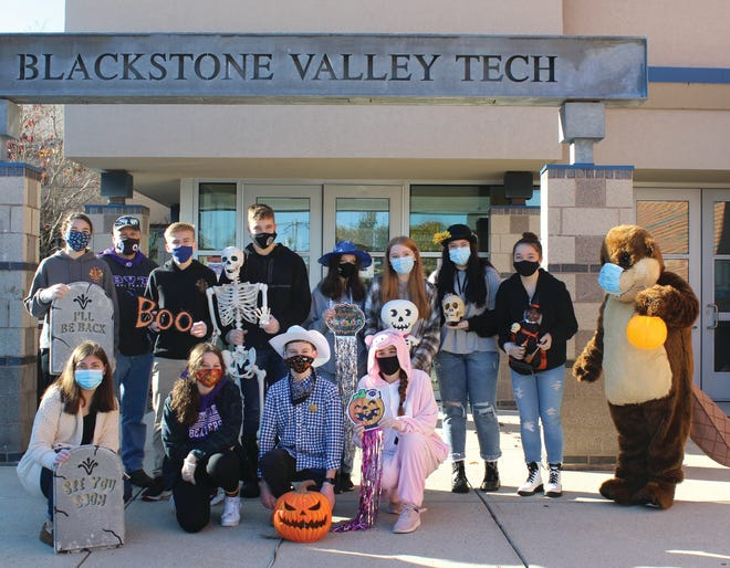 With the traditional Halloween celebration of trick-or-treating looking a little different this year due to COVID-19, the Blackstone Valley Regional Vocational Technical High School Leo Club hosted a spooktacular fun, festive alternative: a drive-throughtrick or treat on Halloween for younger siblings of BVT students and staff.