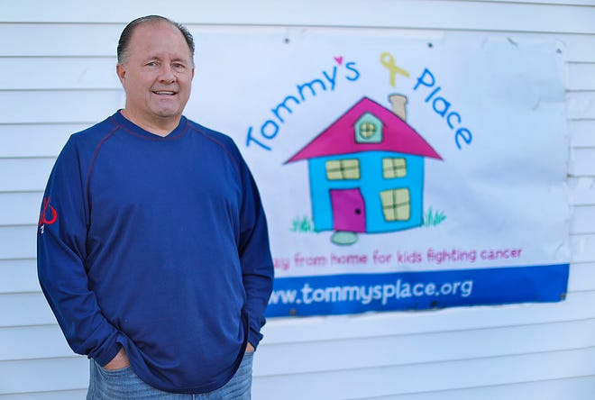 Tim O'Connell of Quincy, who is constructing a vacation home for parents and kids in the midst of major illness battles. Greg Derr/ The Patriot Ledger