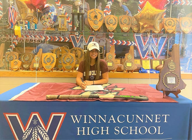 Winnacunnet High School senior Sam Crochetiere signed her National Letter of Intent to play field hockey at Boston College on Friday.