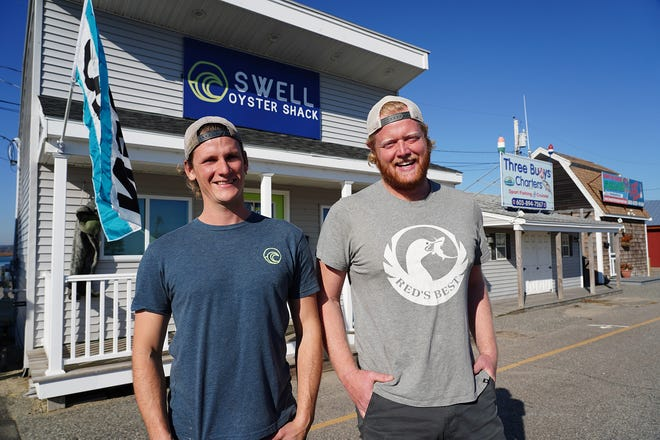 Conor Walsh and Russ Hilliard, co-owners of Swell Oyster Co., have officially opened a grower owned retail space at Hampton Harbor.