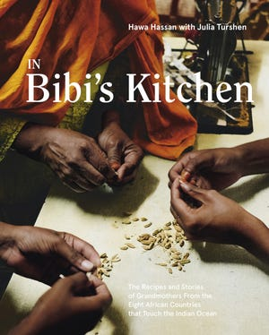 """The cover of """"In Bibi's Kitchen"""" by Somali chef Hawa Hassan."""