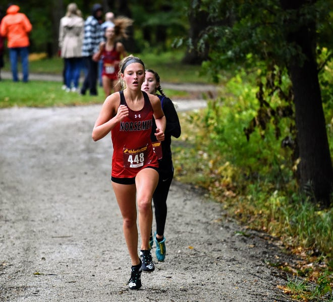 Reece Johnson joined the Roland-Story girls' cross country team as a junior this fall and led the Norse to a HOIC title and state meet berth.