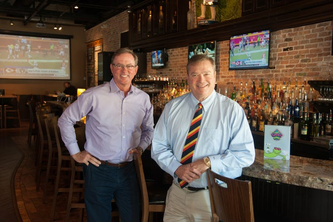 Mike Gowan, left, and Mike Quillen, who established their first Gecko's restaurant at The Landings in Sarasota in 1992, plan to unveil their new dining concept Tripletail Seafood & Spirits there in early 2021.
