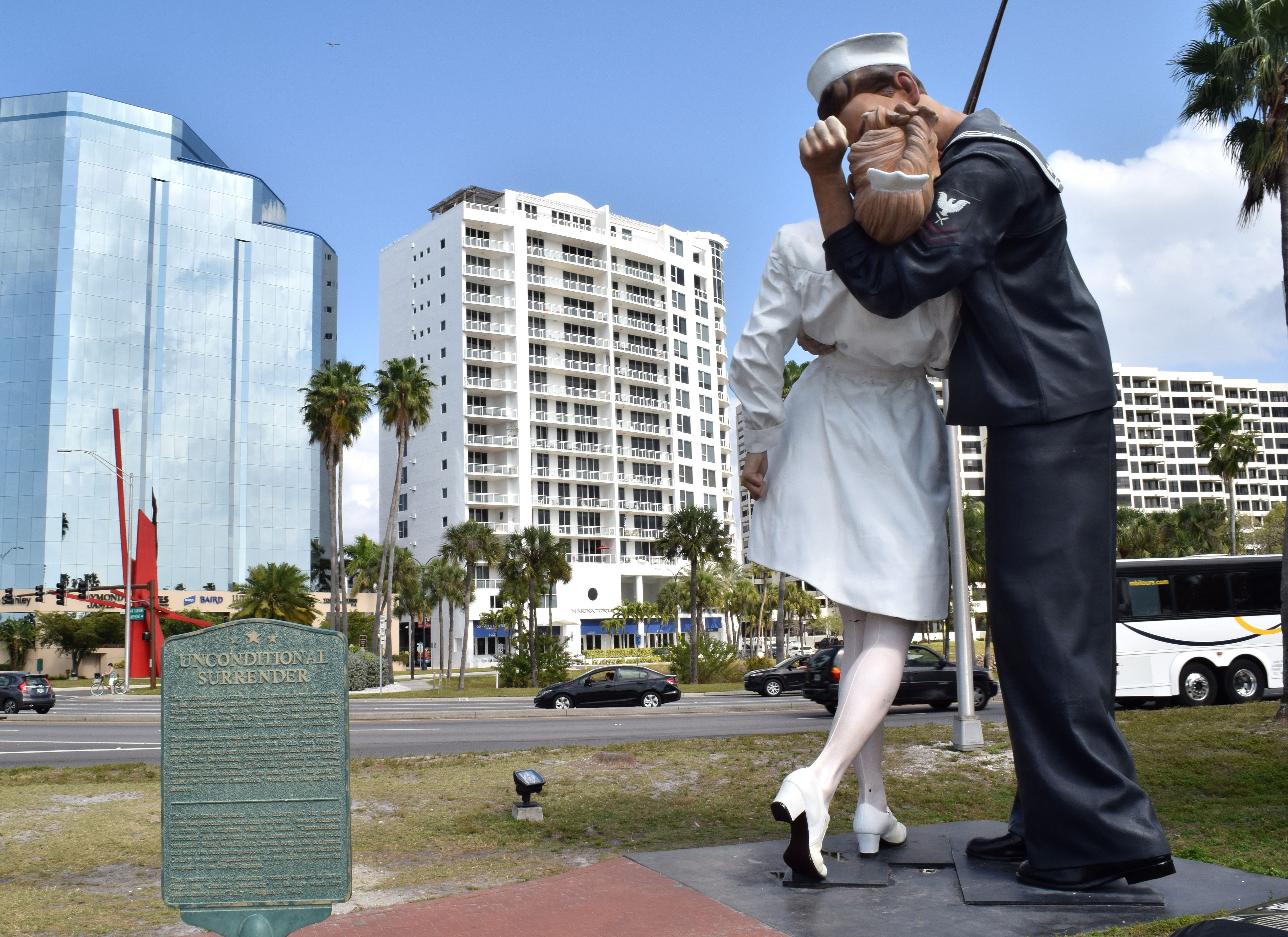Sarasota's Unconditional Surrender statue to remain on the Bayfront
