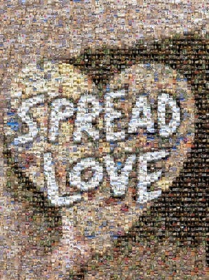 """Local artist Brandon Thrift traveled across the country, leaving artistic messages to """"Spread Love"""" in his wake. """"My goal is to share positivity and hope with the world, especially considering the confusing and relentless times we are living in,"""" he says. This is a compilation of all the pictures he took during his travels."""