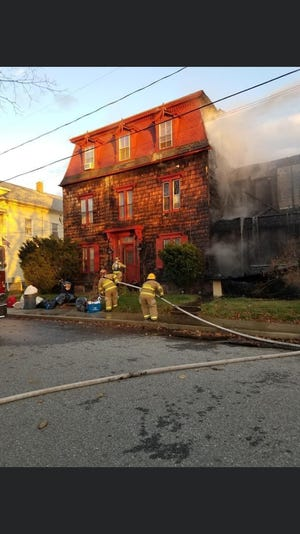 Fire at Putnam residence on Saturday.