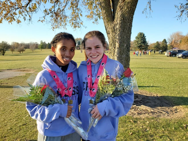 Ballard sophomores Shewaye Johnson (left) and Paityn Noe were the two fastest runners in the entire state for the 2020 girls' cross country season. The duo led Ballard to a repeat state team championship in Class 3A.