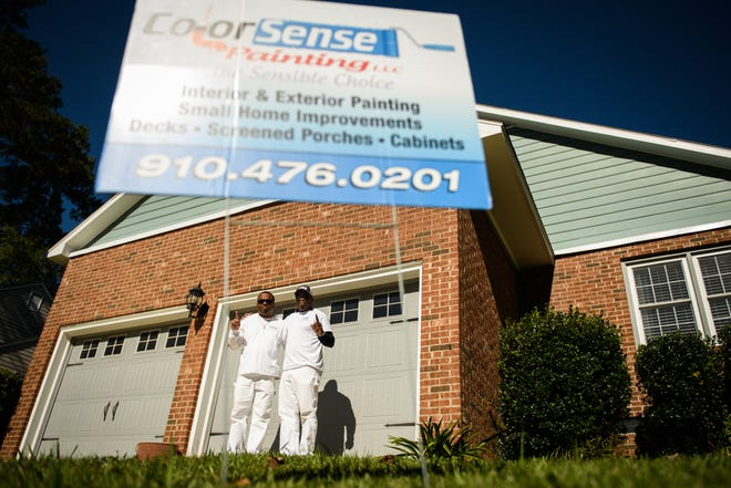 Brothers Rodney and Reggie Felton merged their painting businesses earlier this year to deal with the overflow of clients during the COVID-19 pandemic. With people spending more time at home, they are calling these brothers for their home improvement needs.