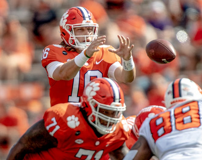 Clemson quarterback Trevor Lawrence returns to the Tigers' lineup after sitting out two games with COVID-19.