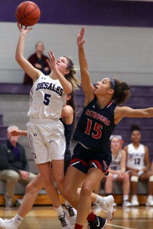 Senior guard Gracey Wilson is one of the top returnees for the DeSales girls basketball team, which hopes to improve on last season's 14-10  finish.