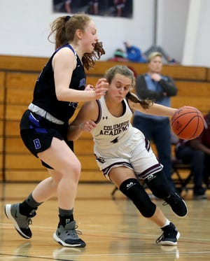 Junior guard Sophie Spolter is one of the top returnees for the Academy girls basketball team and second-year coach Heather Rakosik. The Vikings hope to improve on last season's finish of8-15 overall and 3-11 in the MSL-Ohio.