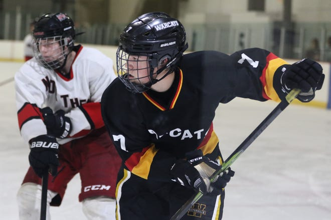 Junior forward Cullen Hassel is among the top returnees for the Warcats club hockey team, which is seeking its third consecutivestate tournament berth. Hassel attends Westerville Central.