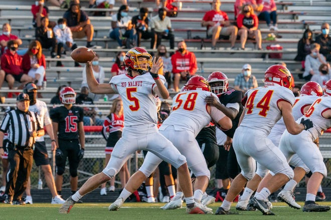 Big Walnut senior quarterback Jagger Barnett completed 92 of 155 passes for 966 yards with 13 touchdowns and six interceptions this season. He was second-team all-district and first-team all-league.
