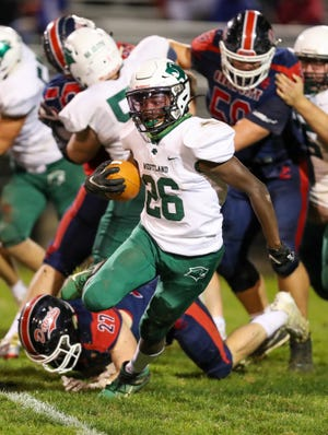 Westland's Tim Smith finds running room against Grove City on Oct. 2. Smith should be a top contributor next fall.