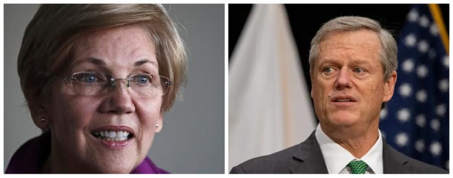 Gov. Charlie Baker said Thursday that he would veto any legislation sent to him changing the rules for how a vacancy in Congress gets filled, as speculation about whether U.S. Sen. Elizabeth Warren might be asked to join President-elect Joe Biden's cabinet intensifies.