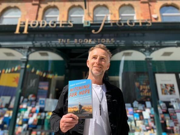 """Irish author Ruairi McKiernan will be discussing his book, """"Hitching for Hope – A Journey into the Heart and Soul of Ireland,"""" via a virtual conversation live from Ireland on Thursday, Nov. 19. [Courtesy photo]"""